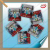 Square shape cartoon pictures decorative plastic bags with zipper for herbal incense