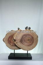 New Modern Crafted WooNew Modern Crafted Wooden Sculpture With Antique Color