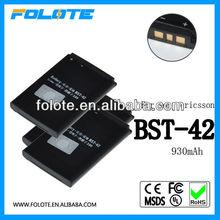 Lithium polymer gb t18287-2000 battery for sony ericsson bst-42 J132 J132i K810i