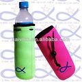 Con aislamiento de neopreno botella de agua de la manga/refrigerador con el lazo