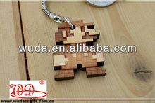 retro style super mario themed cartoon wood keychains
