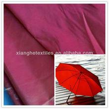 PA/PU coated polyester pongee fabric