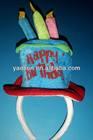 mini funny birthday cake hat headband
