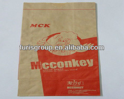 paper bags for hot fried chicken food packing paper bag