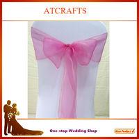 wholesale cheap wedding organza chair sash