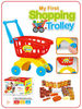 Shopping Cart with food set toys,supermarket shopping toy cart