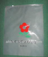 Zipper plastic bags for shopping garment packaging etc.