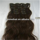 natural straight human clip in hair extensions