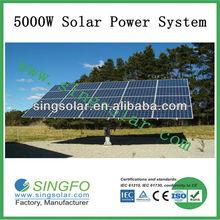 5kw transportable solar power system