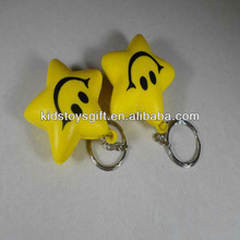 Promotional PU antistress smiling star squeezing toy