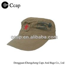 2015 100% cotton flat top man cap