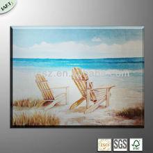 Hot design sunbath beach painting-landscape sea scenery