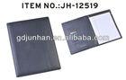 JH-12519 pu leather a4 portfolio case with calculator