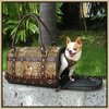 Fashion Tiger pattern Leather Dog carrying bag BA 7048