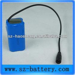 7.4V 4400mAh Flash Led Light Li-ion Battery Pack 18650 High Capacity Rechargeable Battery