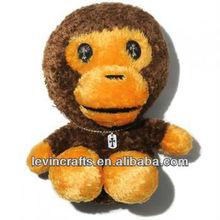 brown big head stuffed monkey plush toys