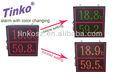 Grandes de color rojo led de temperatura y humedad tiempo- fecha del monitor, gran pantalla led de fecha y hora