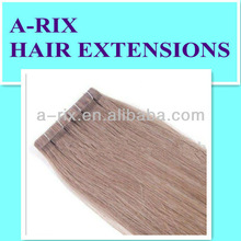 clear PU tape brazilian hair extensions-prebonded hair