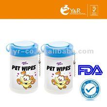 2014 high quality shining pet Wipes