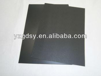 Rigid black embossed PVC sheets