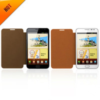 i9220 Leather Flip Cover Case For Samsung Galaxy Note N7000 Luxury Smart Phone Cover Pouch