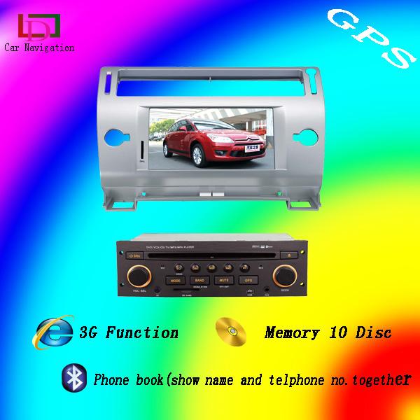 car dvd for C4 fm bluetooth can bus