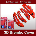 "3D brembo brake caliper cover front rear set 9.5""and 7.6"""