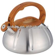 3.0L kettle with wooden handel, pumpkin shape
