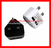 UK Wall/Travel/Home Charger for BlackBerry USB Cable Charger with 2 Port and Good Chip Power Supply Adapter