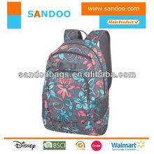 Hot selling leisure backpack, custom fashion back pack bags