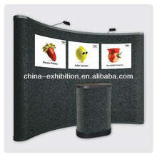 Pop up make up folding display stand with podium