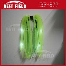 Flashing Crazy Hair LED Light Up Dreadlock led Noodle Wig