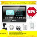 Libre de la puerta del sensor! Inalámbrica gsm funk alarmas de seguridad con sistema de control de relé y teclado táctil( yl007m2e)