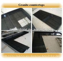Absolute Black prefab granite kitchen countertop