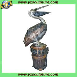 Brass Casting Garden Pelican Statue BASN-D071