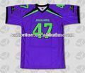 Más el tamaño púrpura sublimado del fútbol americano traje