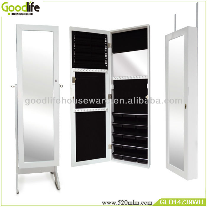 White wooden display cabinet with 3 functions from shenzhen
