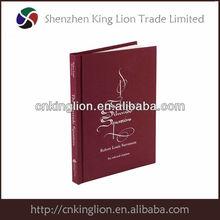 2014 hot popular customized leather agenda