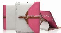 new arrival Top quality portfolio leather bag case for ipad mini