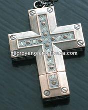 Cross shape usb,hot selling metal usb