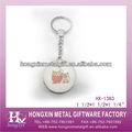 Fábrica HX-1363 redondo encantador del buho de letra del alfabeto de la cadena dominante del diseño