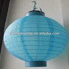 """New 8"""" blue Battery Nylon Lantern Solar Power Light Outdoor Wendding Pendant"""