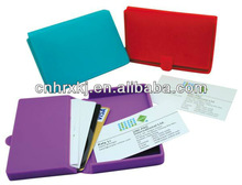100% Purse Silicone Lady Wallet Snap Card Holder Credit ID Business Case Purse