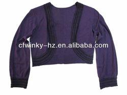 ladies silk knitted long sleeve shrug