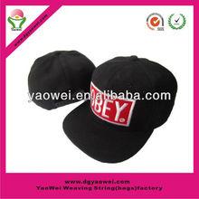 Fashionable promotion 100%cotton snapback hat/snapback cap