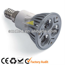 3*1w high power spotlight aluminum gu10 led