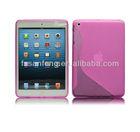 2013 New Arrival Flexible S-Line tpu case for ipad mini& mini ipad tablet case,TPU gel cellphone case