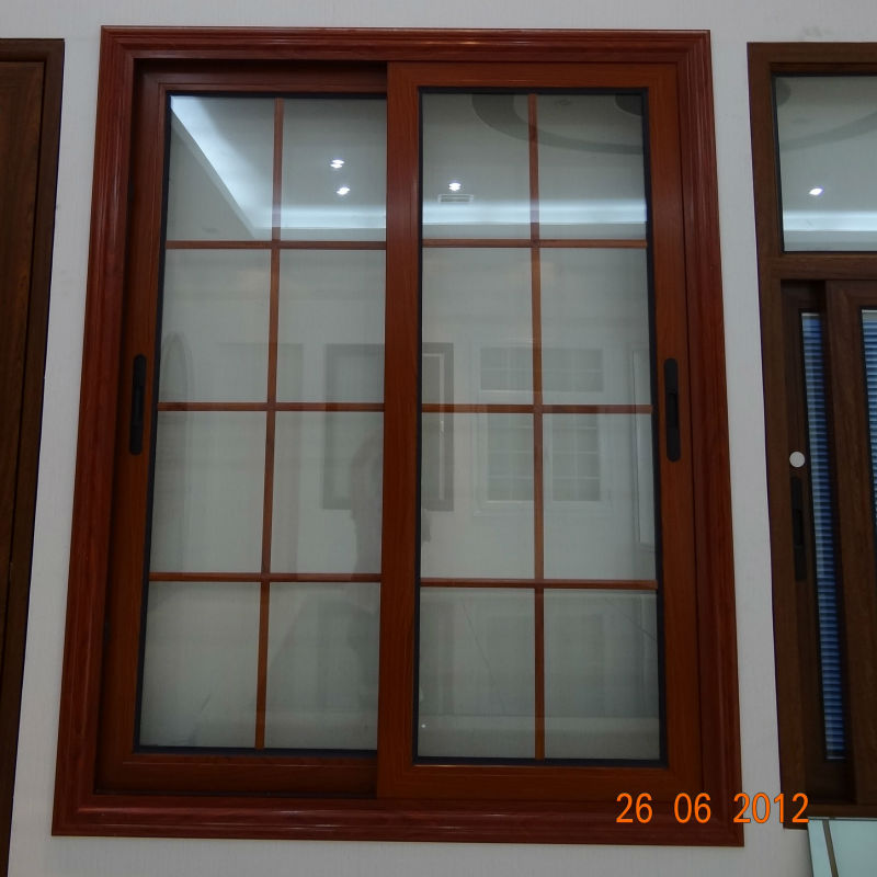 Aluminium sliding window grill design view sliding window for Window design grill