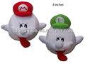 venta al por mayor de anime de super mario bros boo muñeca de la felpa con rojo y verde 2 sombrero de pcs