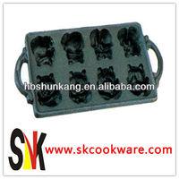 37.5cm Cute Little Bear Cast Iron Bakeware/Ovenware